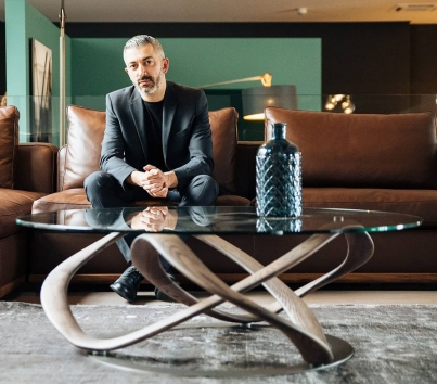 Stefano Bigi featuring Infinity coffee table - design by Stefano Bigi for Porada / Credit photo Porada